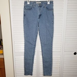 Levis 721 High Rise Skinny Light Wash Jeans Sz 29